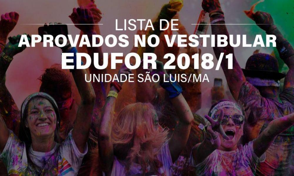 Aprovados Vestibular Tradicional 2018/1 - São Luis