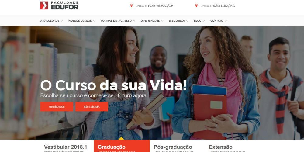 Novo website Faculdade Edufor