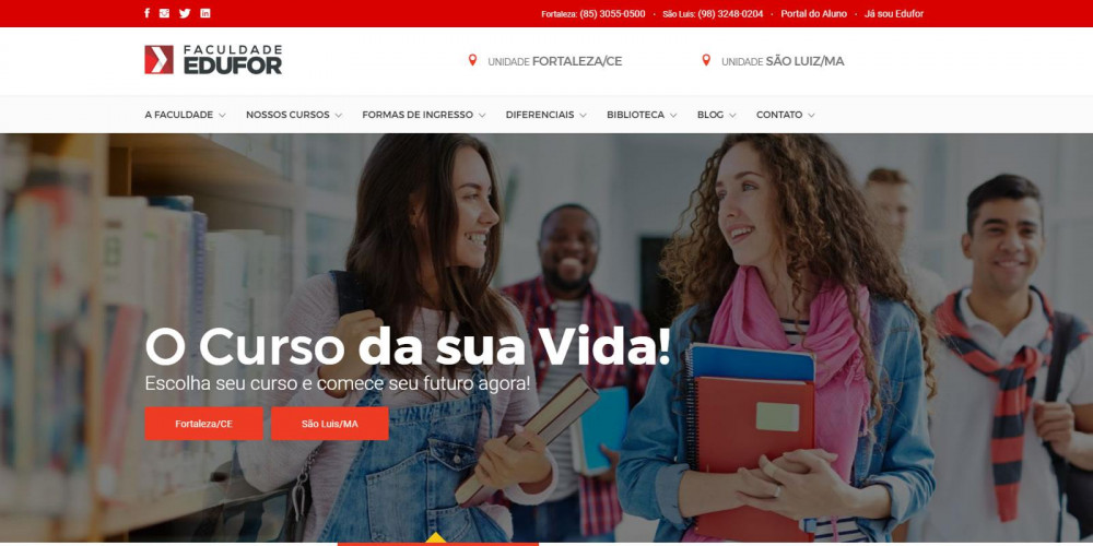 Novo website Faculdade Edufor