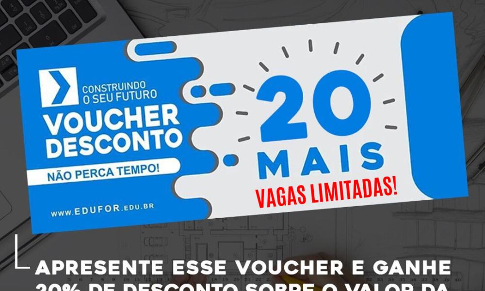 Voucher de Desconto - Edufor 2019.2