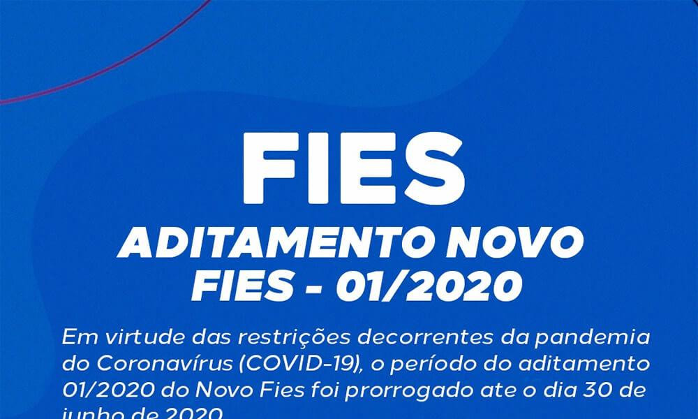 FIES - Aditamento Novo FIES - 01/2020