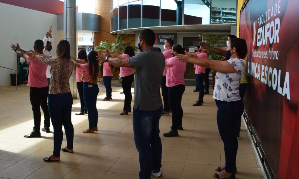 Faculdade Edufor realiza ginástica laboral com os colaboradores
