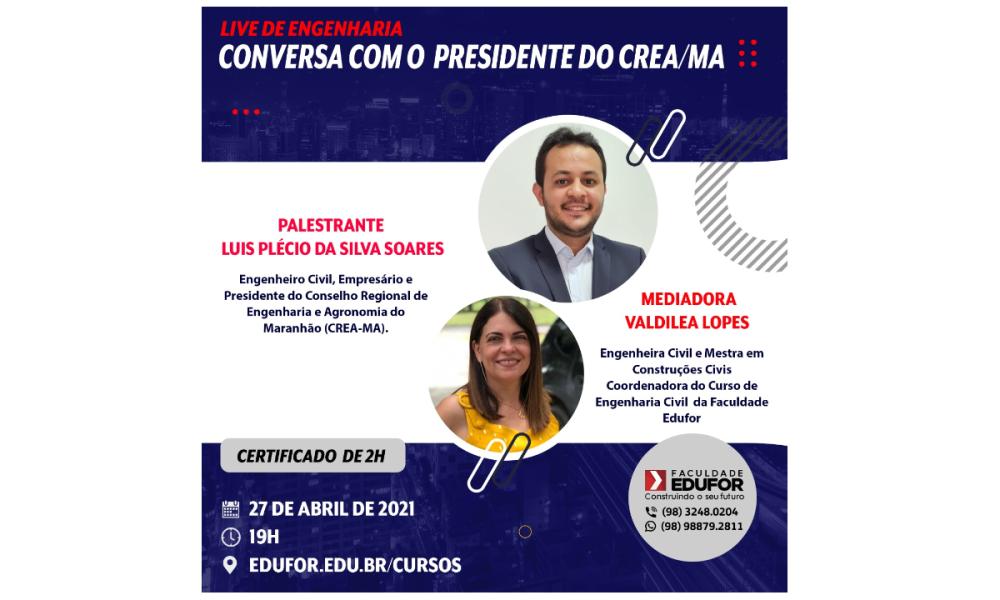 CONVERSA COM O PRESIDENTE DO CREA-MA
