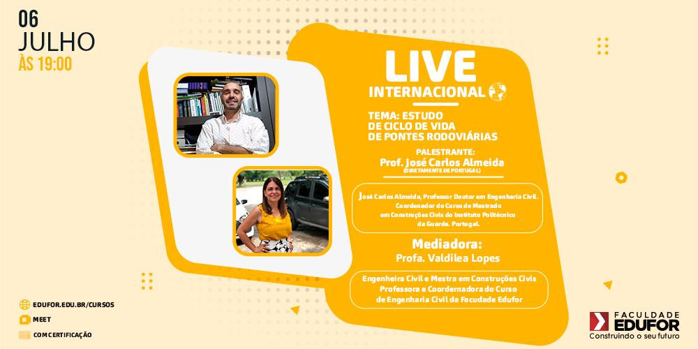 Live Internacional do Curso de Engenharia Civil da Edufor