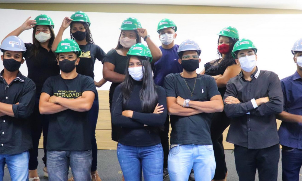 Edufor realiza Cerimônia do Capacete para os alunos do Curso Técnico em Edificações e Técnico em Segurança do Trabalho