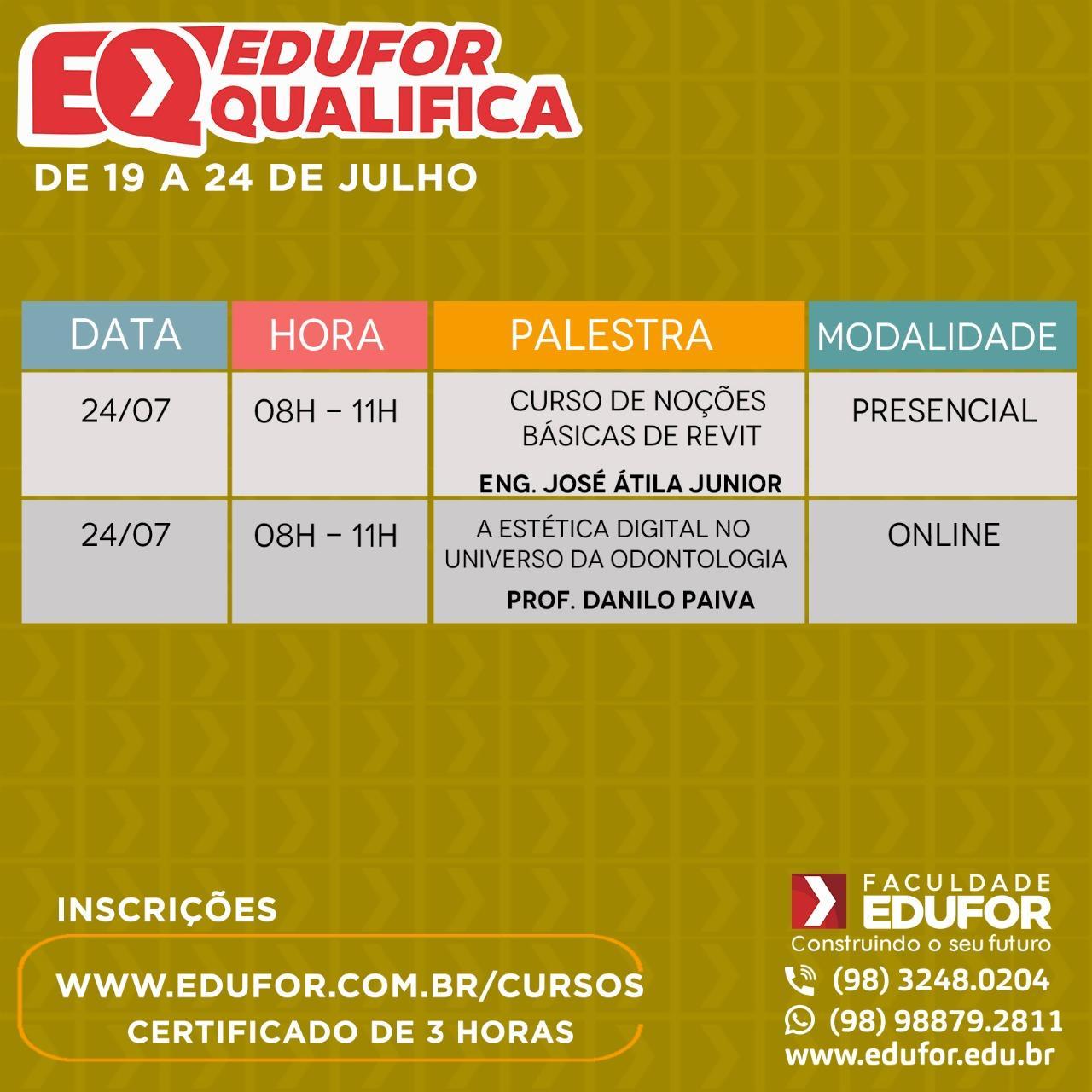 Faculdade Edufor promove 6ª edição do Edufor Qualifica